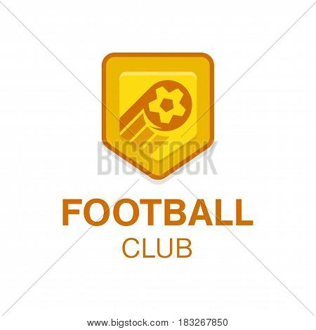 Soccer Football Badge vector illustration. Ball logo