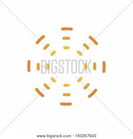 Abstract sun icon. Sun symbol isolated on white background.