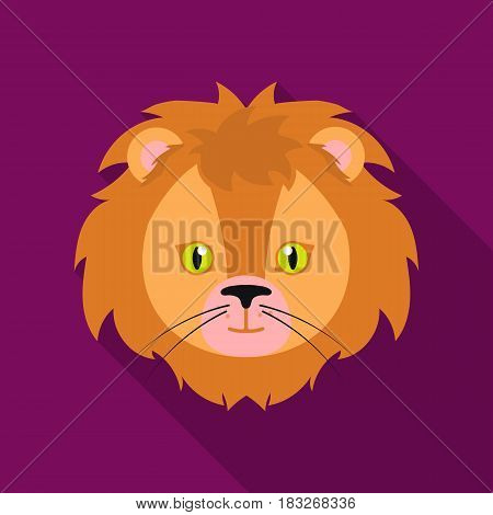 Circus lion icon in flat style isolated on white background. Circus symbol vector illustration.