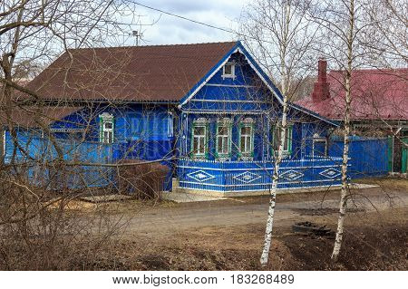 Traditional Russian Village House In Yuryev-polsky