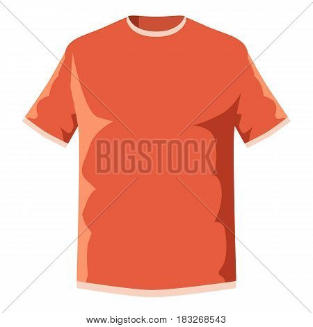 Orange soccer shirt icon. Cartoon illustration of orange soccer shirt vector icon for web