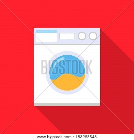 Washer flat icon. Illustration for web and mobile.