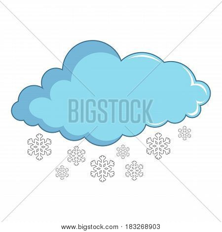Cloud with snowflakes icon. Cartoon illustration of cloud with snowflakes vector icon for web