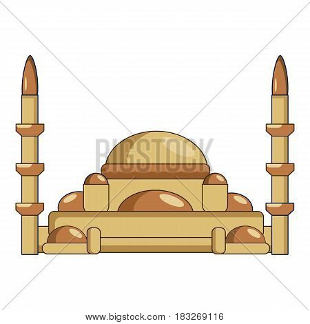 Mosque icon. Cartoon illustration of mosque vector icon for web