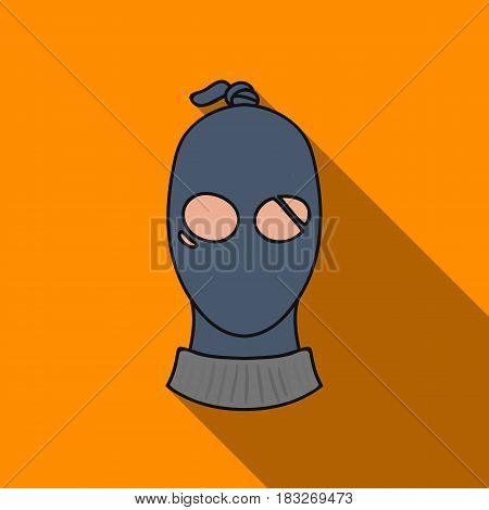 Thief icon in flat style isolated on white background. Crime symbol vector illustration.