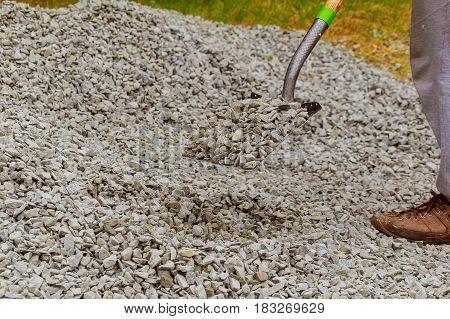 Shovels rocks shovel stone cairn shovel stones
