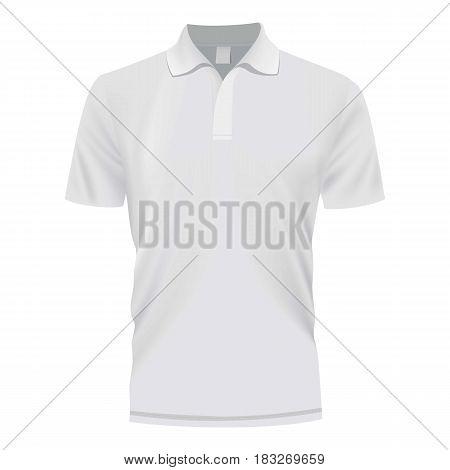 White shirt mockup. Realistic illustration of white shirt vector mockup for web