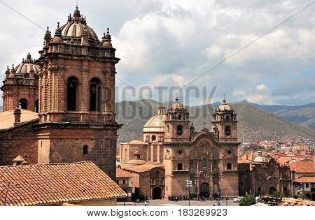 View of the Cathedral of Cusco in Peru!