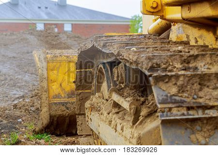 Digger, Heavy Duty Construction Equipment Parked