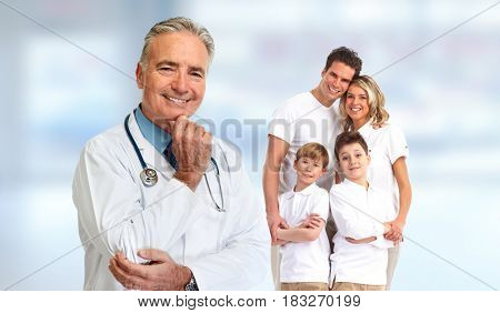 Senior family doctor