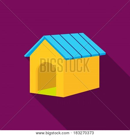 Doghouse vector illustration icon in flat design