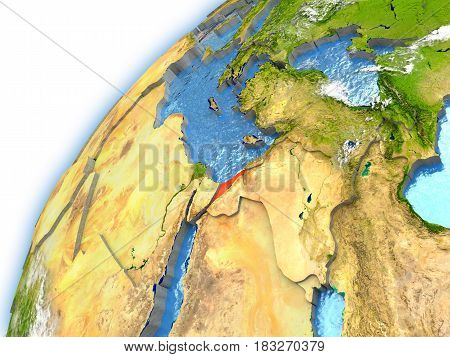 Israel On Model Of Planet Earth