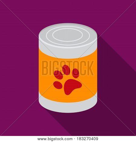 Dog food vector illustration icon in flat design