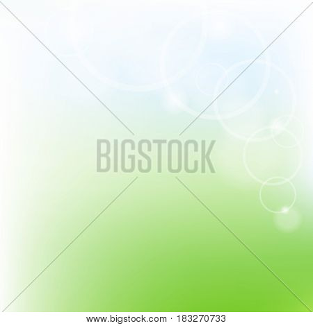Green And Blue Pastel Poster