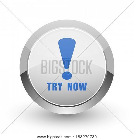 Try now chrome border web and smartphone apps design round glossy icon.