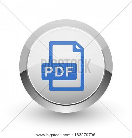 Pdf file chrome border web and smartphone apps design round glossy icon.