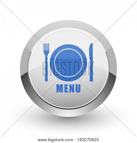 Menu chrome border web and smartphone apps design round glossy icon.