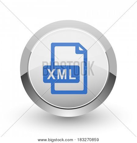 Xml file chrome border web and smartphone apps design round glossy icon.