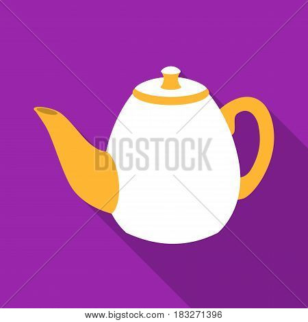Teapot icon in flat style isolated on white background. England country symbol vector illustration.