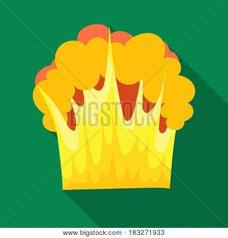Nuclear explosion icon in flat design isolated on white background. Explosions symbol stock vector illustration.