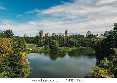 Sunny day at Central Park in New York