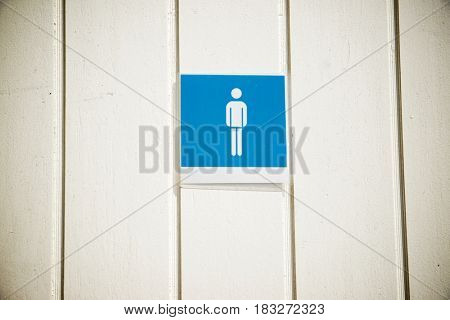 Entrance to a public restroom for men.