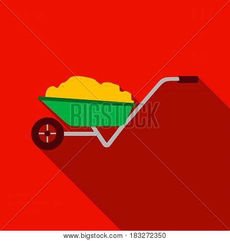 Wheelbarrow icon of vector illustration for web and mobile design