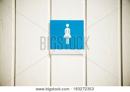 Entrance to a public restroom for women.