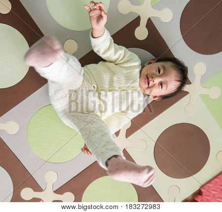 Portrait of asian baby
