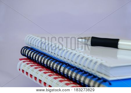 concept pen and book use for your business