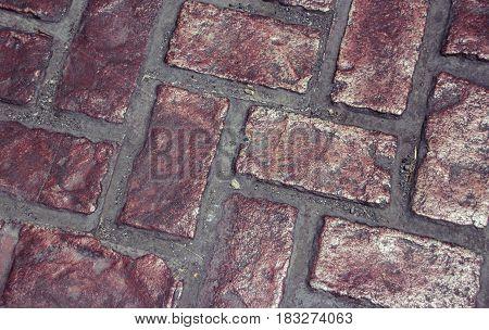 Brick Floor Texture Or Background