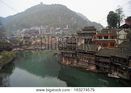 Fenghuang Ancient town is a UNESCO World Heritage site that is located in Hunan Province, China.
