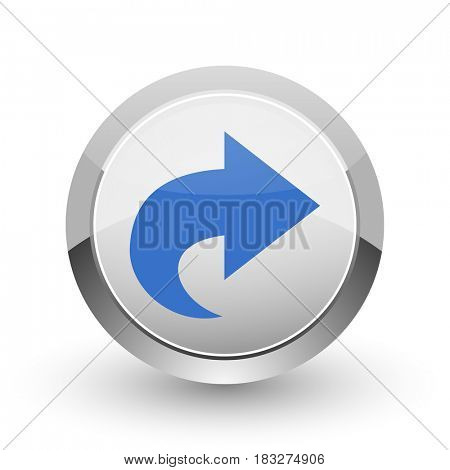 Next chrome border web and smartphone apps design round glossy icon.