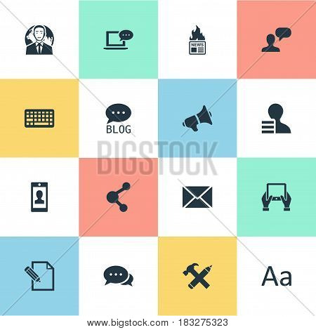 Vector Illustration Set Of Simple User Icons. Elements International Businessman, Keypad, Gain And Other Synonyms News, Gain And Profit.