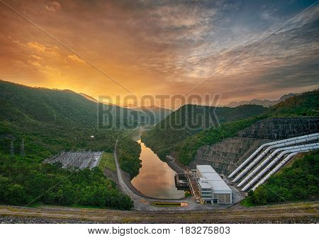 Concrete Dam For Hydro Electric Power Plant