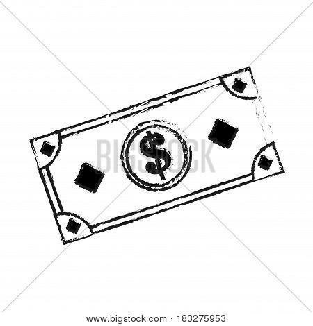 cash money icon image vector illustration design  black sketch line