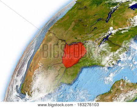 Zimbabwe On Model Of Planet Earth
