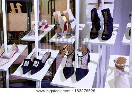 Kyiv, Ukraine - February 5, 2017: Sneshana Nekh Shoes Collection As Part Of Ukrainian Fashion Week 2