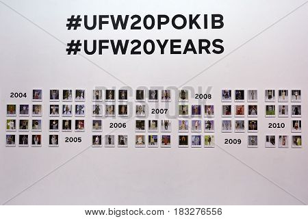 Kyiv, Ukraine - February 4, 2017: Ufw Photo Exposition. Backstage Of Ukrainian Fashion Week 2017