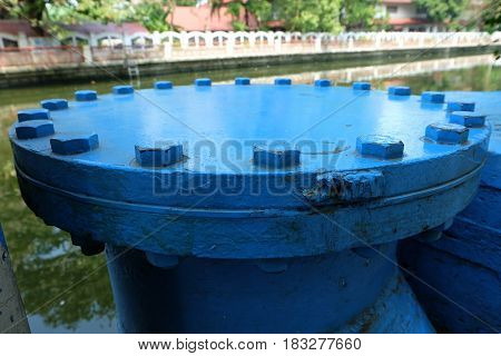 Old Big Blue Water Pipe (City Infrastructure)