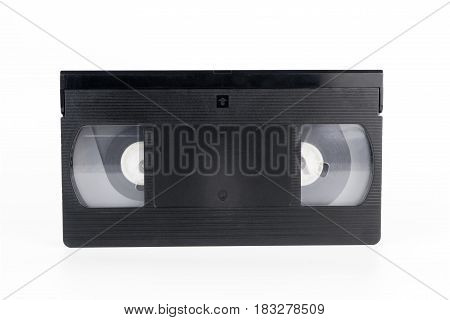 Vintage Black video tape isolated on white background