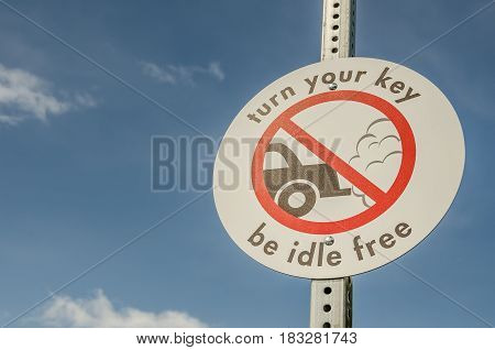 One way to help clean up our air is to turn your key and be idle free