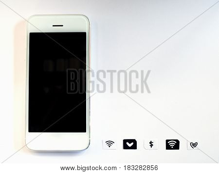 A white smart phone sim card tray and small paper simulated as a SIM card on white background