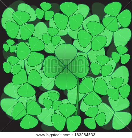 Clover background with quatrefoil in the center.
