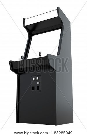 Gaming Arcade Machine with Blank Screen for Your Design on a white background. 3d Rendering.