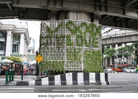 Street At Silom District In Bangkok, Thailand