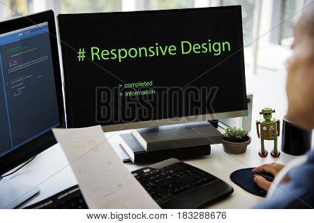 Web Design Coding Program Content Graphic