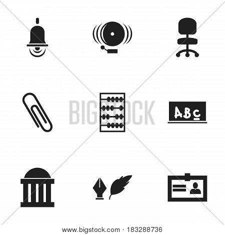 Set Of 9 Editable Graduation Icons. Includes Symbols Such As School Board, Certification, Alarm Bell And More. Can Be Used For Web, Mobile, UI And Infographic Design.