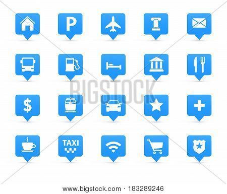 Vector navigation direction maps traffic icons set