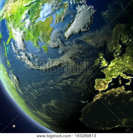 Europe And North America From Orbit